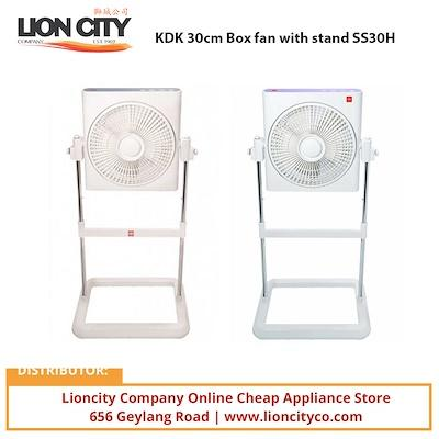 KDK 30cm Box fan with stand SS30H - Lion City Company