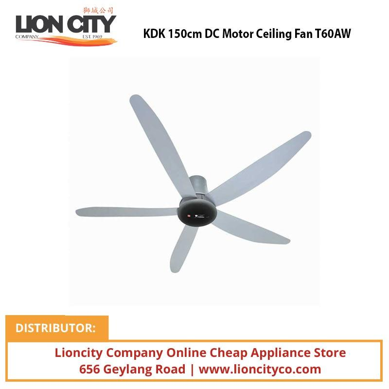 KDK 150cm DC Motor Ceiling Fan T60AW - Lion City Company