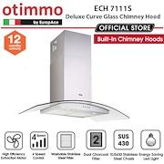 Europace ECH 7111S Deluxe Curve Glass Chimney Hood - Lion City Company