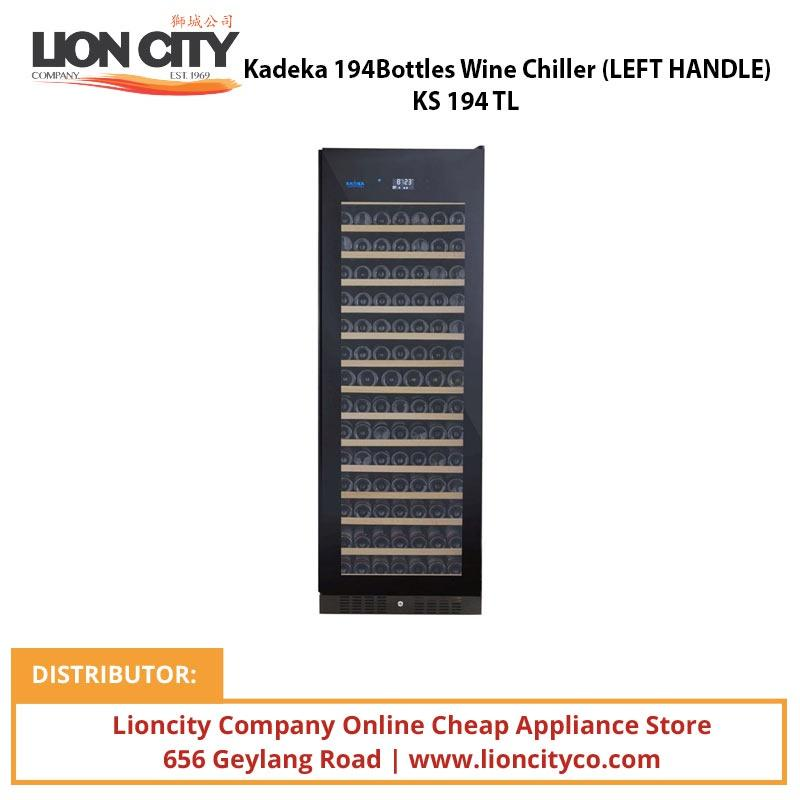 Kadeka 194Bottles Wine Chiller (LEFT HANDLE) KS194TL - Lion City Company