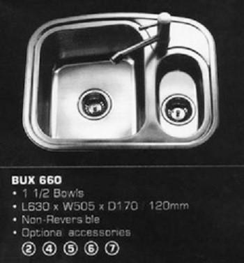 Rubine Kitchen Sink Urban Express yourself BUX 660
