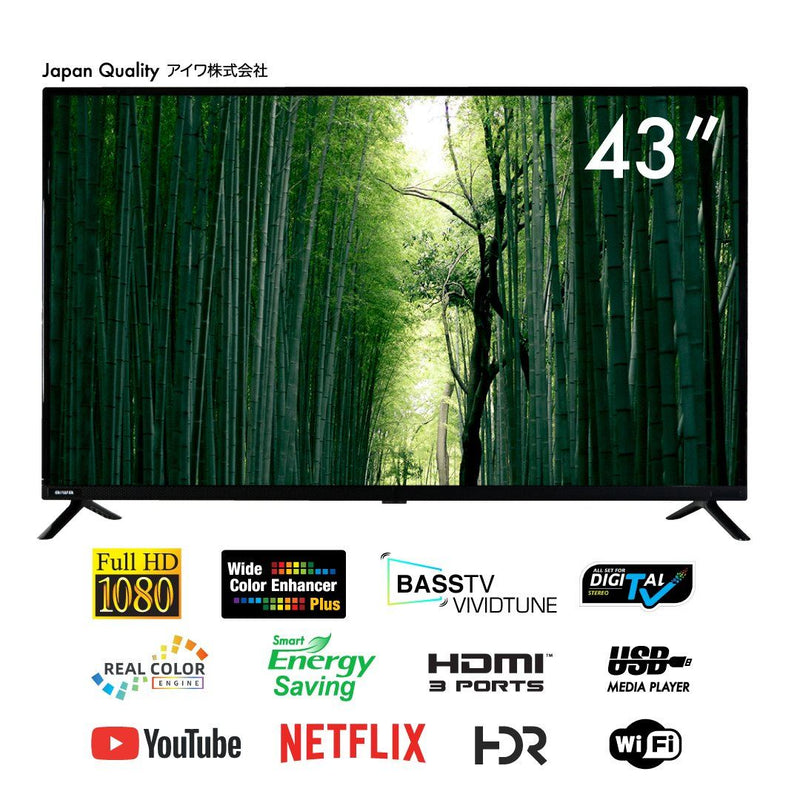 "Aiwa AW-LED43G7S 43"" LED Full HD Smart TV"