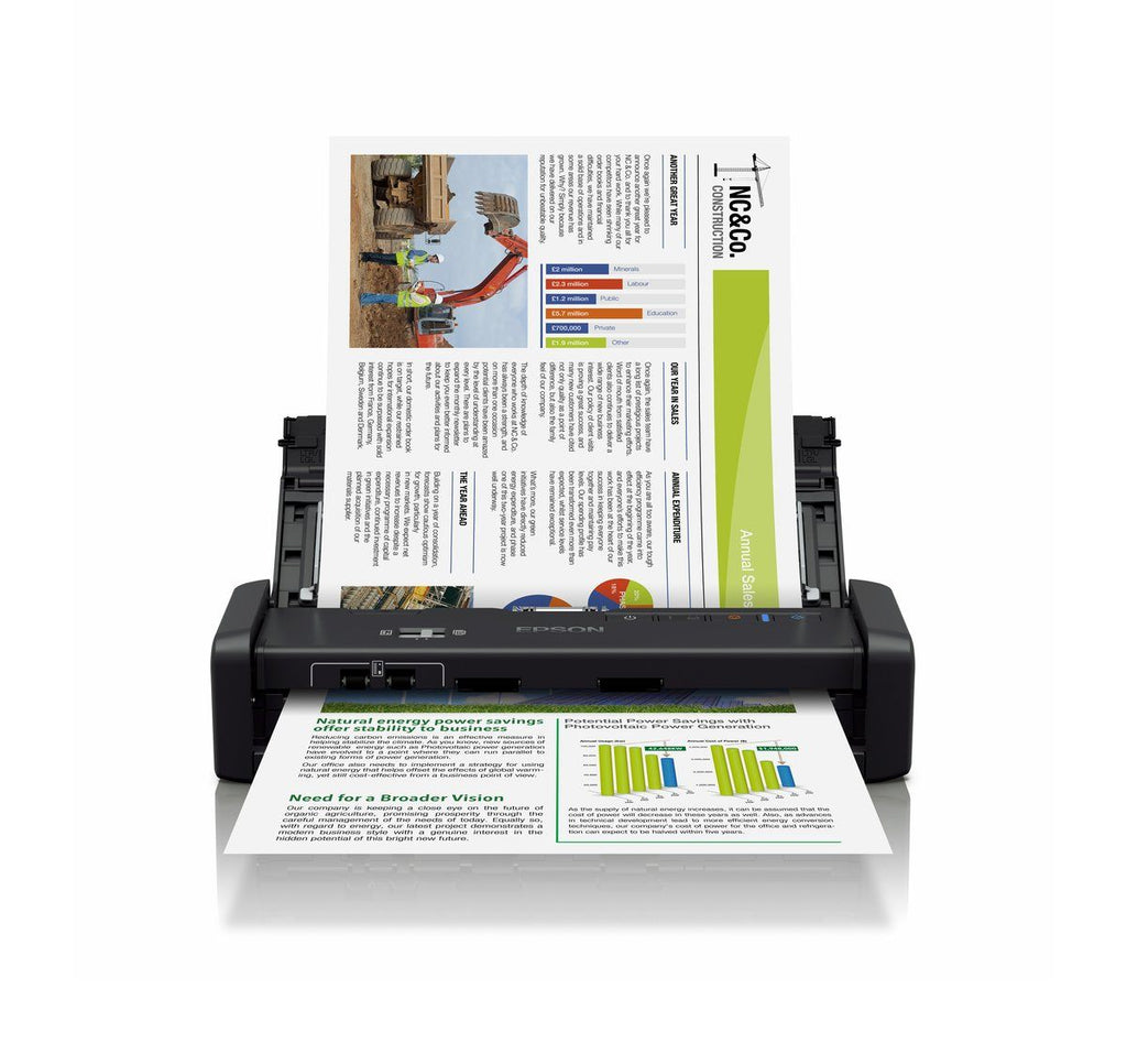 Epson WorkForce DS-360W Wi-Fi Portable Sheet-fed Document Scanner - Lion City Company