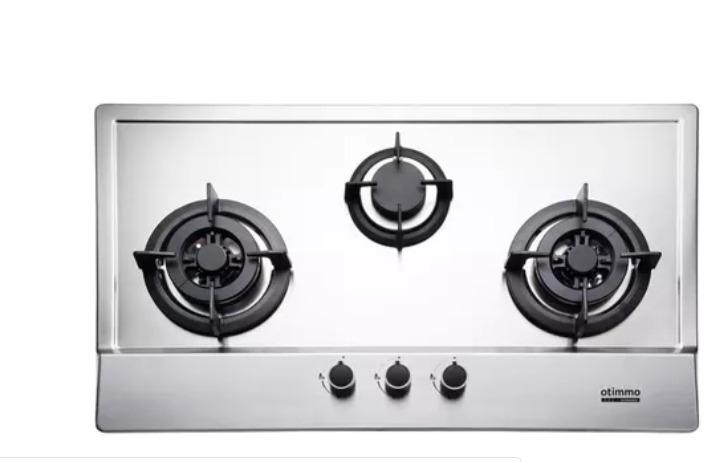 EBH3391U 3 Burner 90cm Slim Built-in Gas Hob Cooker  (Stainless Steel)