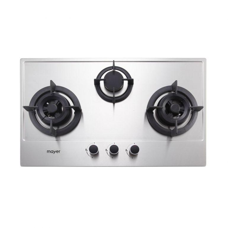 Mayer MMSS773 3 Burner Gas Hob + MMBCH900 Chimney Hood + MMDO8 Built-In Oven - Lion City Company