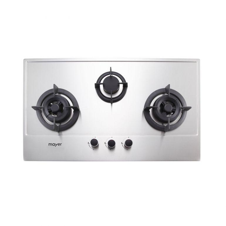 Mayer MMSS883 3 Burner Gas Hob (86cm) + MMBCH900 Chimney Hood