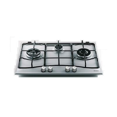 Ariston PCN732T/D2/IX/A 90cm 3 Gas Burner Hob + AH 90 CM  IX 90cm Telescopic Hood - Lion City Company