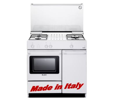 Gas oven, safety devices, battery ignition, W865xD535mm, white EGC 836 WH - Lion City Company