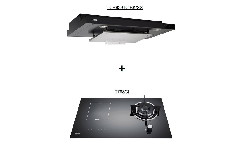TECNO TCH929DP BK Hood + T788GI Hob Package Deal