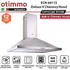 Europace ECH6811S Deluxe V Chimney Hood - Lion City Company