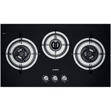Bosch 78.5 cm Black Tempered Glass Gas hob PBD7331SG