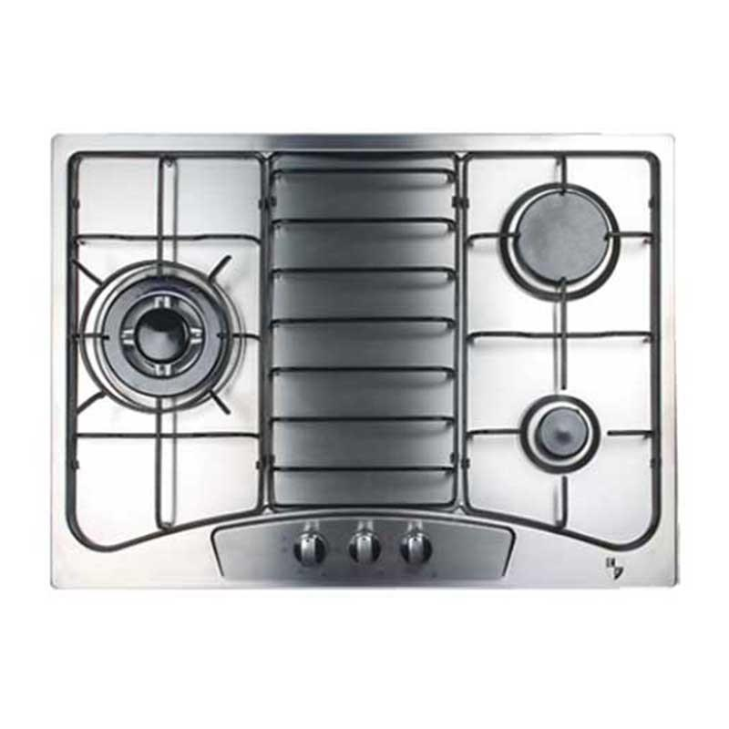 EF 68cm Built in Stainless Steel Gas Hob EFH3760TNVSB