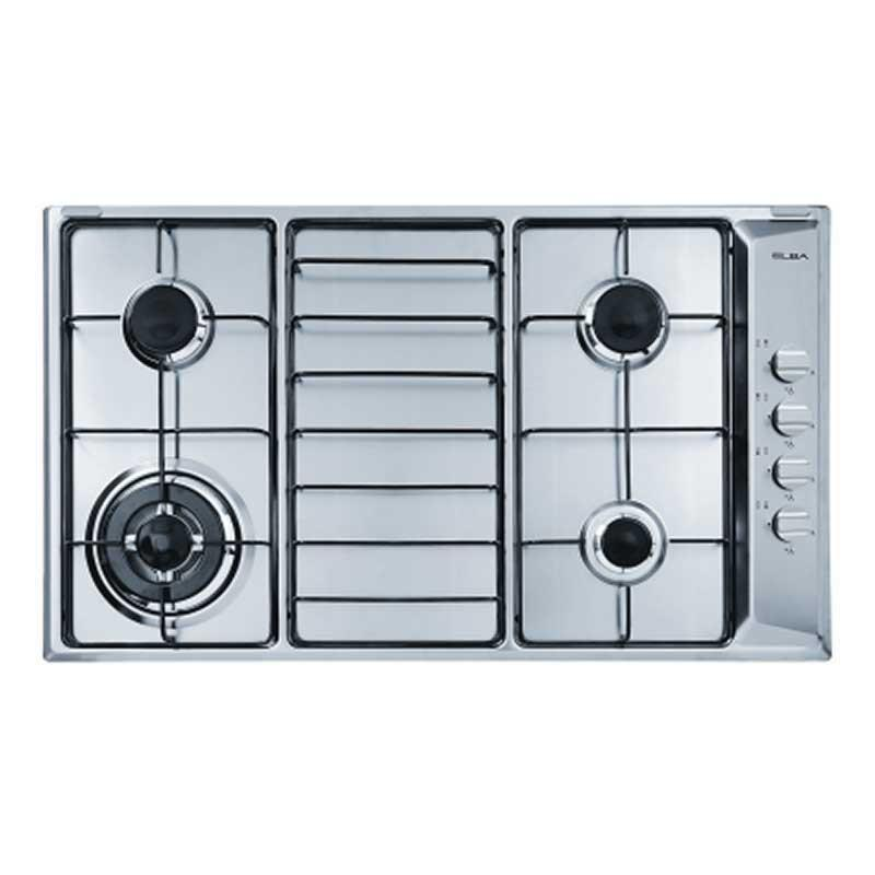 Elba 90cm Built in Stainless Steel Gas Hob EHS945