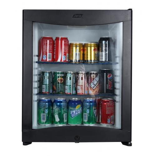JVD 40L Glass Door Silent Minibar Fridge with Lock FD40 GD-SCB-BK