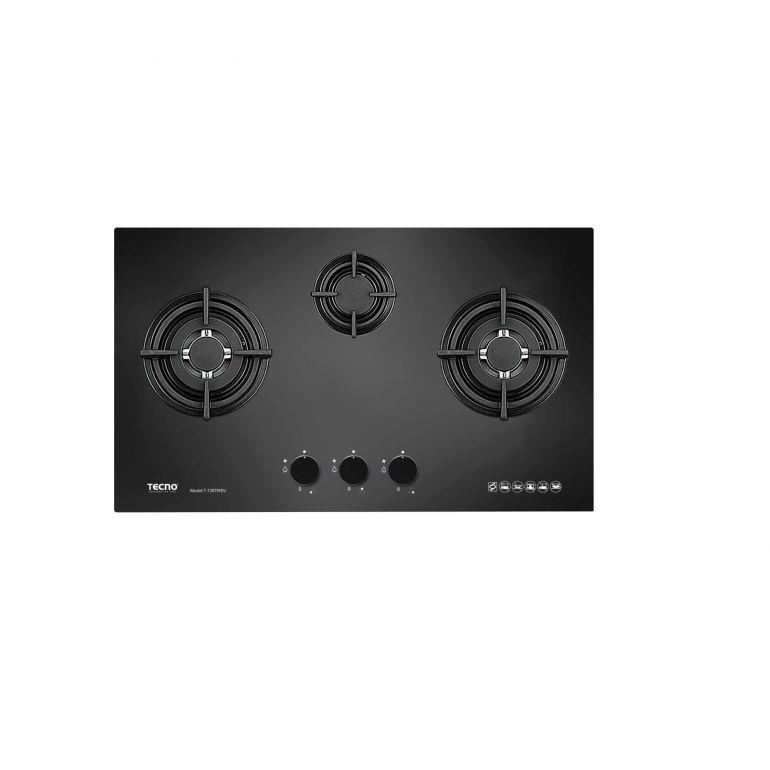TECNO T738TRSV 3 BURNER GLASS Built-in Gas HOB (70CM)