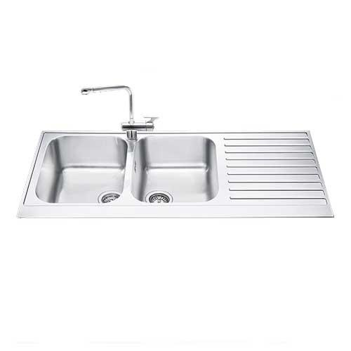 Smeg Double Bowl Kitchen Sink LPD116D