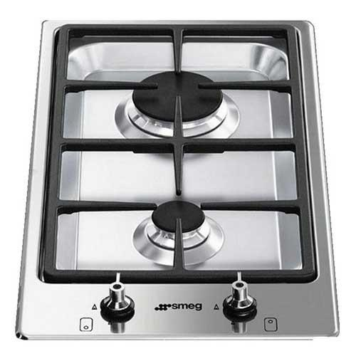 Smeg Built in 2-Burner Domino Gas Hob PGF32GBE - Lion City Company