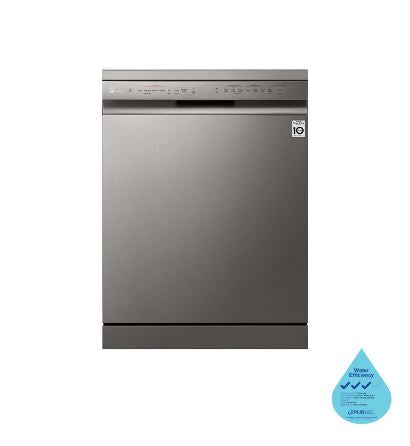 LG DFB425FP Front Control Smart Wi-fi Enabled Dishwasher with QuadWash™ and TrueSteam®