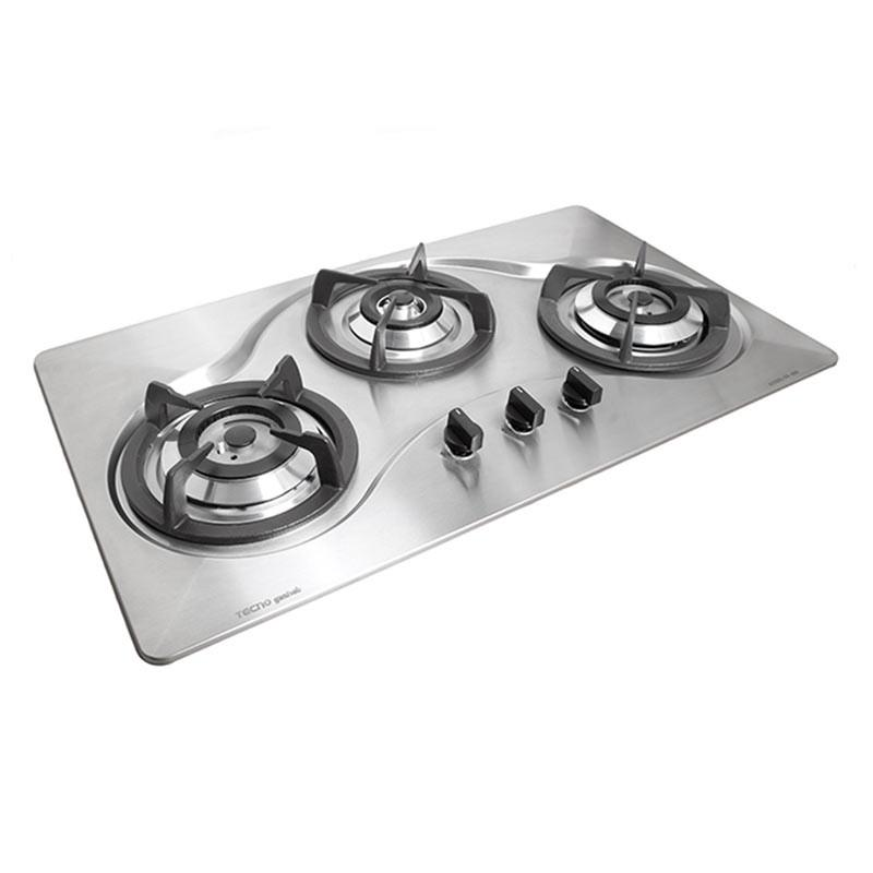 Tecno 90cm Tempered Glass Hob with Safety Valve T 333TGSV - Lion City Company