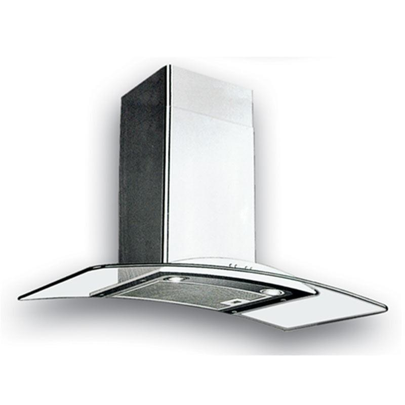 UNO 90cm Glass Chimney Hood UP 9188