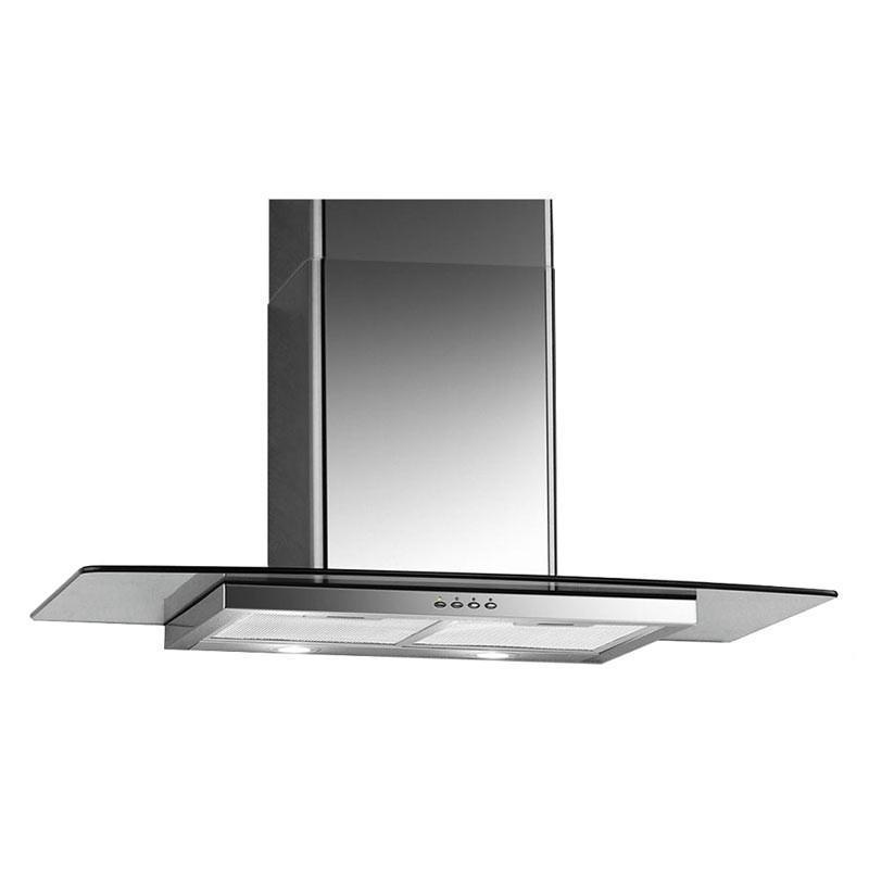 UNO 90cm Glass Chimney Hood UP 9618