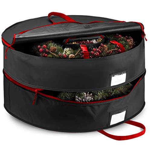 Double Artificial Christmas Wreath Storage Bag 24