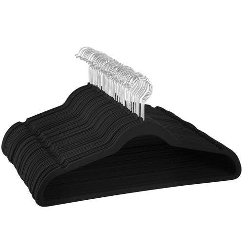 Adult Black Velvet Hanger 30 Pack