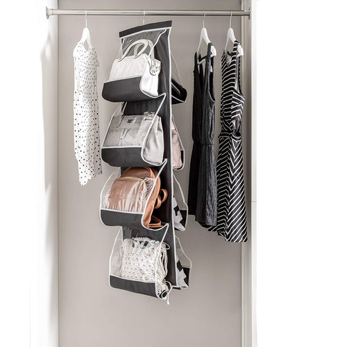 Hanging 8 Purse Organizer - Clear