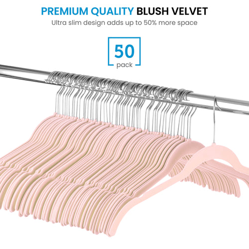 Velvet Shirt Dress Hangers 50-Pack Non-Slip Velvet Material,
