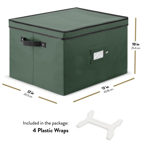 String Light Storage Box with 4 Light Wraps and Lid, Polyester 17