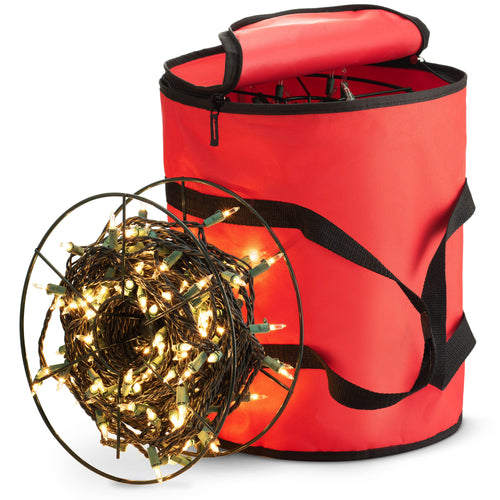 String Light Storage Bag with 3 Reels, Polyester 15