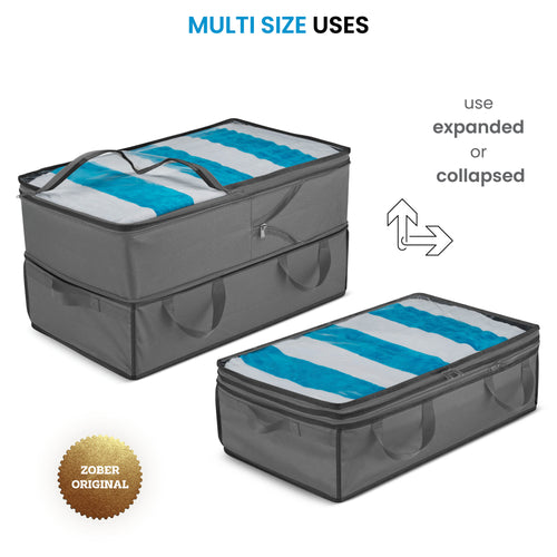Collapsible Storage Containers - 2 in 1 Large & Underbed Storage Bins