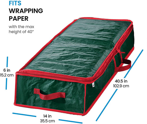 Underbed Gift Wrap and Accessory Storage Box PE Fits 18-24 Rolls, 41
