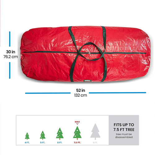 PE Round Artificial Tree Storage Bag for 7.5 ft Tree, 30