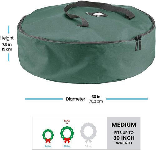 Waterproof Artificial Christmas Wreath Storage Bag 30