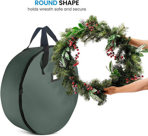 2-Pack Artificial Christmas Wreath Storage Bag 24