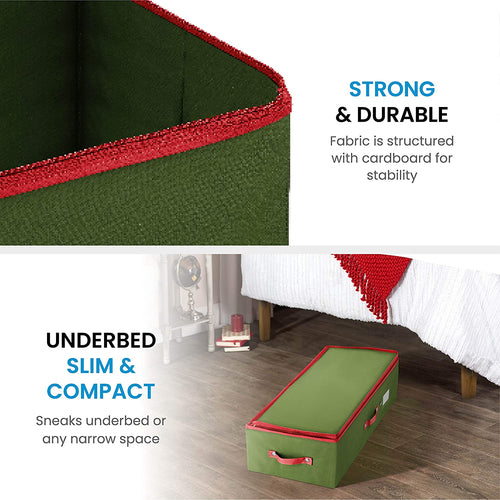 Underbed Ornament Storage Box for 64, Non-Woven 6.5