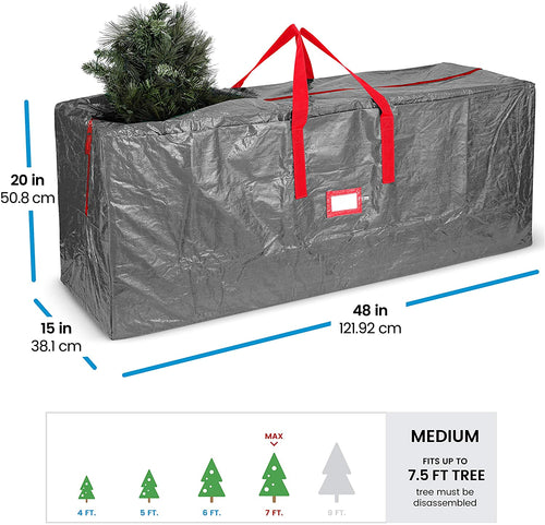 PE Artificial Tree Storage Bag for 7.5 ft Tree, 20