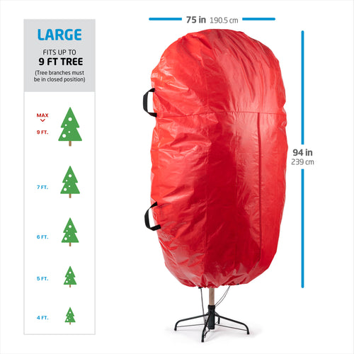Upright Tree Storage Bag for 9 ft. Tree with Drawstring Hem, 94