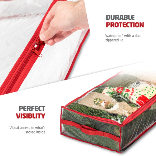 2-Pack Underbed Accessory Storage Bag for Holiday Accessories PVC 6