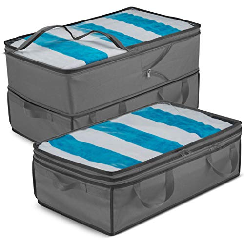 Collapsible Storage Containers - 2 in 1 Large & Underbed Storage Bins 2 Pack