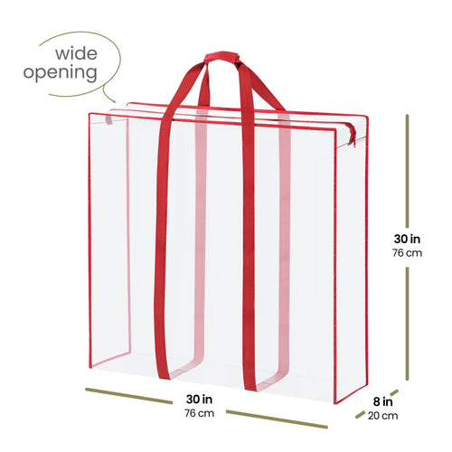 Large Christmas Accessory Storage Bag For Various Holiday Accessories, PVC 30