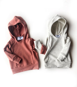 Cotton French Terry Hoodie - Terracotta
