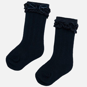 Infant Knee High Socks - Navy