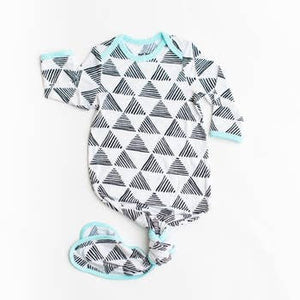 Bamboo Infant Knotted Gown - Triangels
