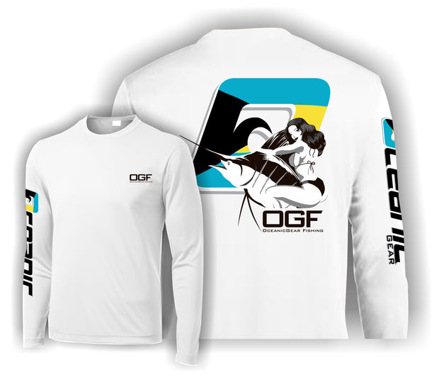 "Bahamian ""Bill Rider"" Long Sleeve Performance Tee"
