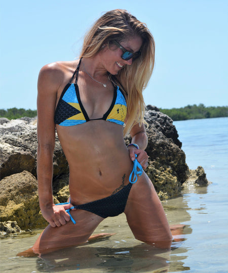 Bahamian Pride FishKini Tie Side Bottoms