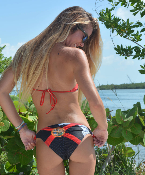 "Florida Pride ""Black"" FishKini Banded Bottoms"