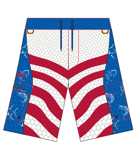 Kid's Offshore Patriot Fishing Boardshorts