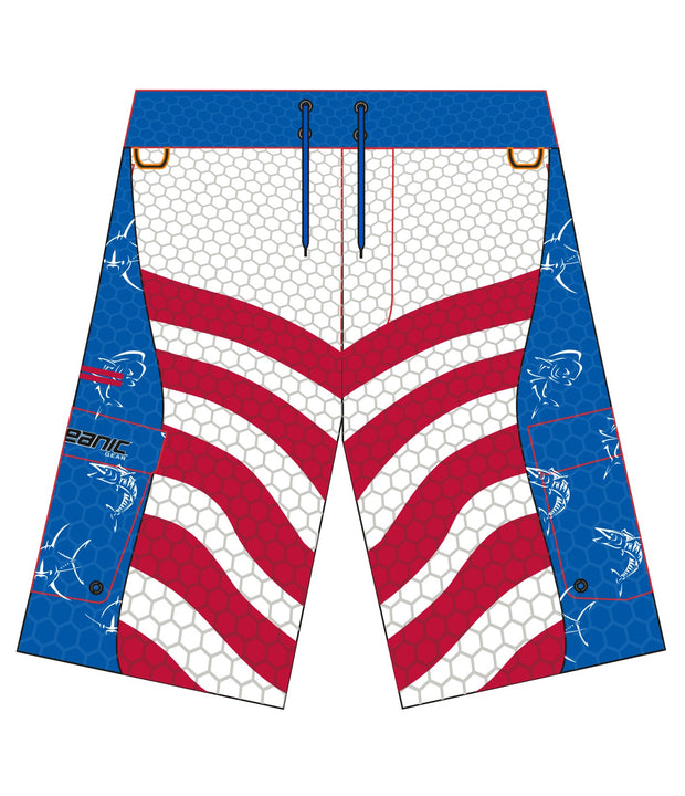 Kid's Offshore Patriot Fishing Boardshorts (Closeout)